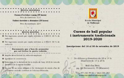 Inici dels cursos de ball popular i instruments tradicionals