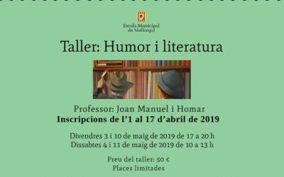 Taller: Humor i literatura (Inscripcions d'1 a 17 d'abril)