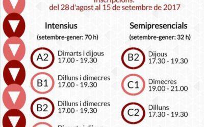 Inscripcions als cursos de català 2017-2018