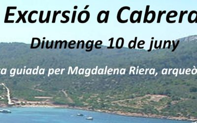 Diumenge 10 de juny: excursió a Cabrera