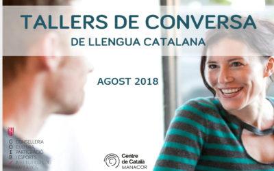 Tallers de conversa de llengua catalana (agost de 2018)
