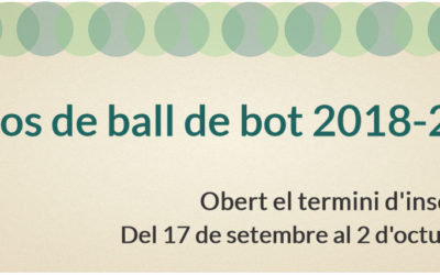 Inscripcions cursos de ball de bot