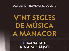 """Cicle de conferències """"Vint anys de música a Manacor"""""""