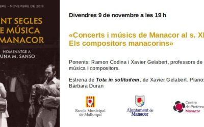 Concerts i músics de Manacor al segle XIX