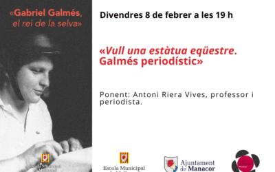 Conferència: divendres 8 de febrer a les 19 h