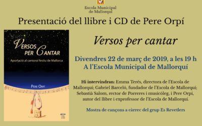 PRESENTACIÓ DEL LLIBRE I CD «Versos per cantar»