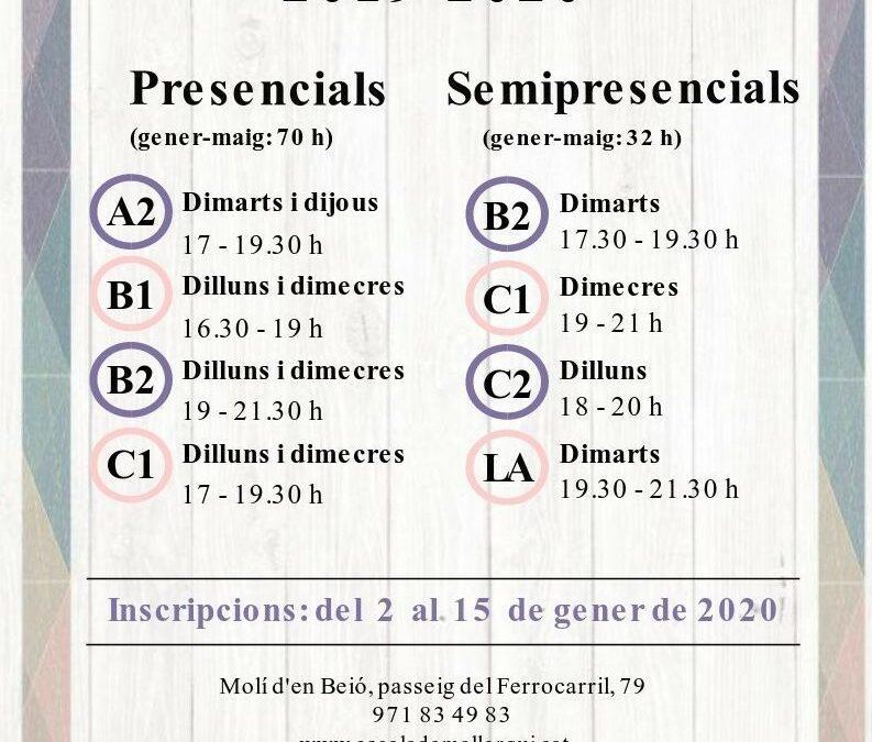 Cursos català 2n quadrimestre