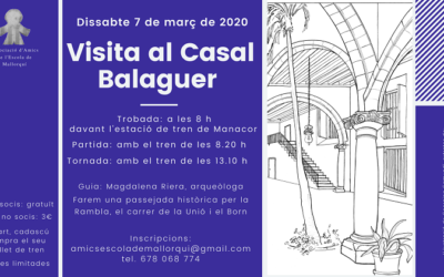 Visita al Casal Balaguer (07.03.2020)