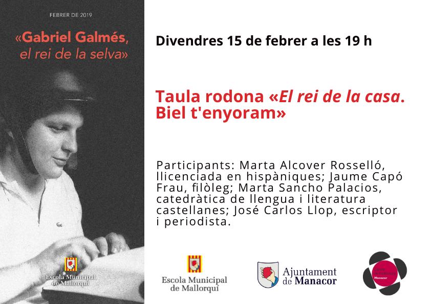 Conferència: divendres 15 de febrer a les 19 h