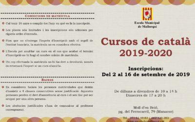 Inici dels cursos de català 2019-2020