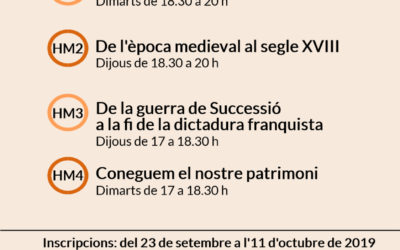 Inscripcions als cursos d'història de Mallorca