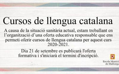 Matrícules cursos de llengua catalana 2020-2021
