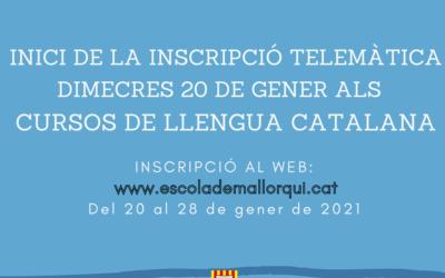 Dimecres 20 de gener, inscripcions cursos de llengua catalana