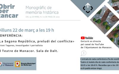 CONFERÈNCIA: «La Segona República, preludi del conflicte»
