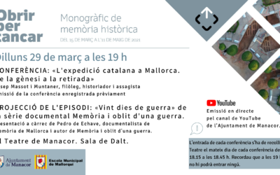 CONFERÈNCIA: «L'expedició catalana a Mallorca.  De la gènesi a la retirada»