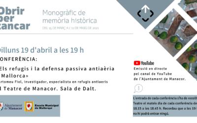 CONFERÈNCIA: «Els refugis i la defensa passiva antiàeria a Mallorca»