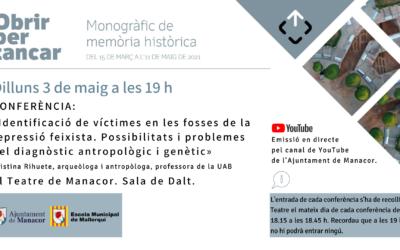 CONFERÈNCIA: «Identificació de víctimes en les fosses de la repressió feixista. Possibilitats i problemes del diagnòstic antropològic i genètic»