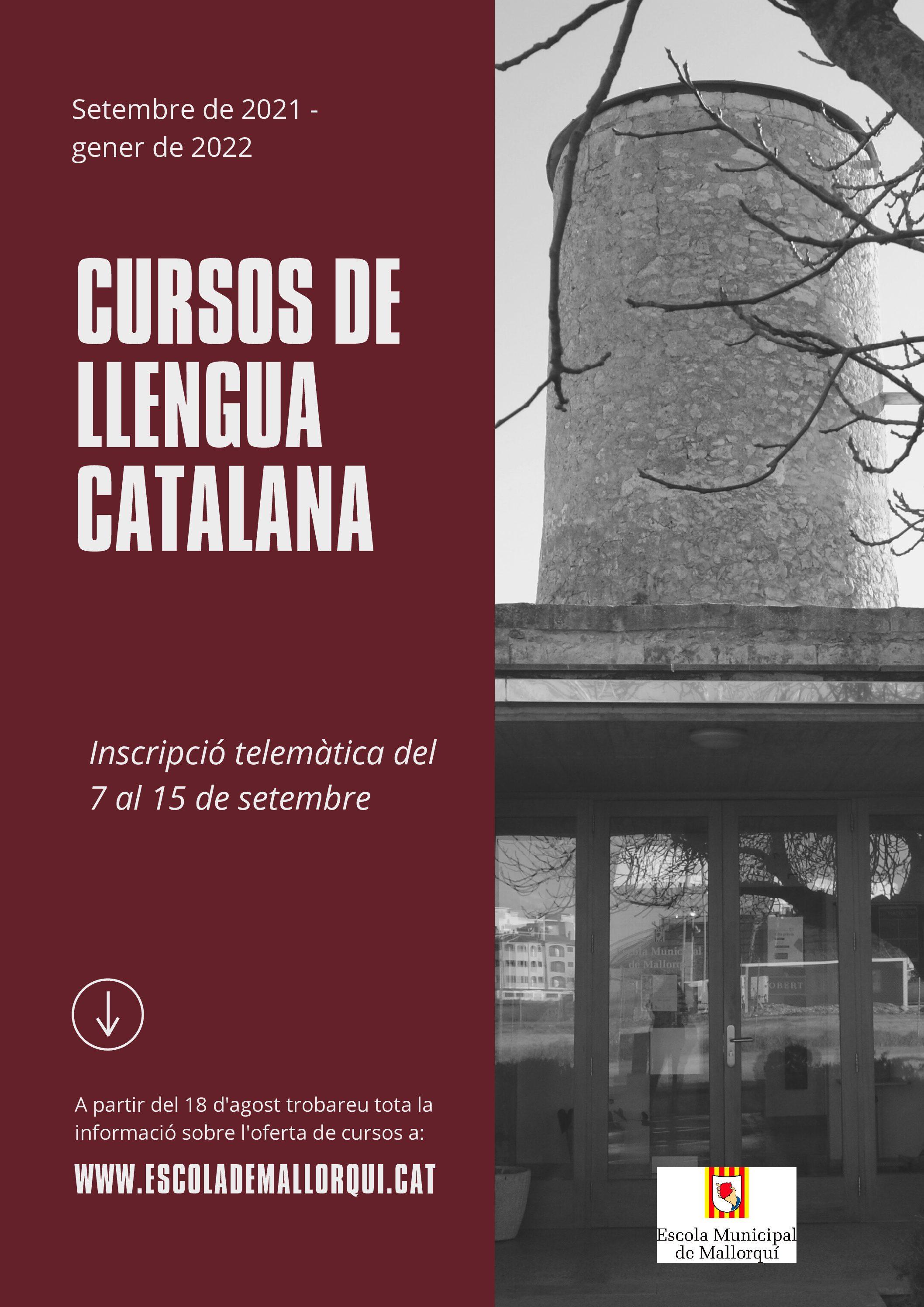 Cursos de llengua catalana setembre 2021-gener 2022