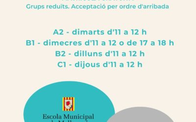 Tallers de conversa A2 – B1 – B2 – C1