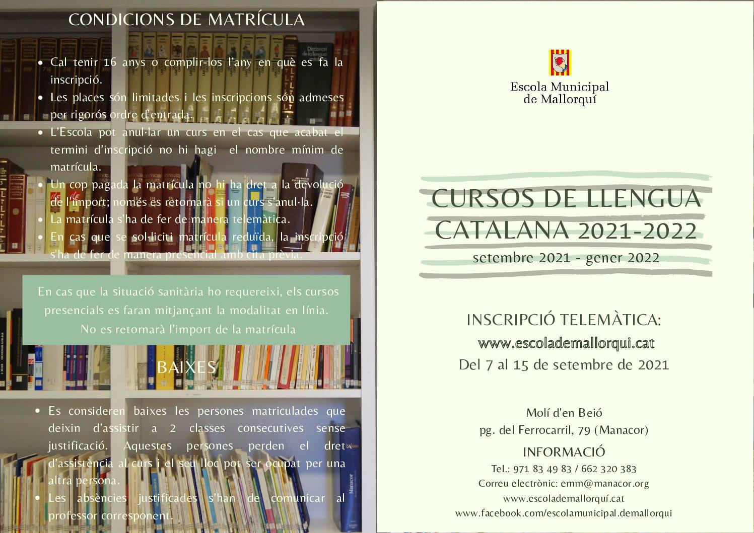 Díptic cursos de català